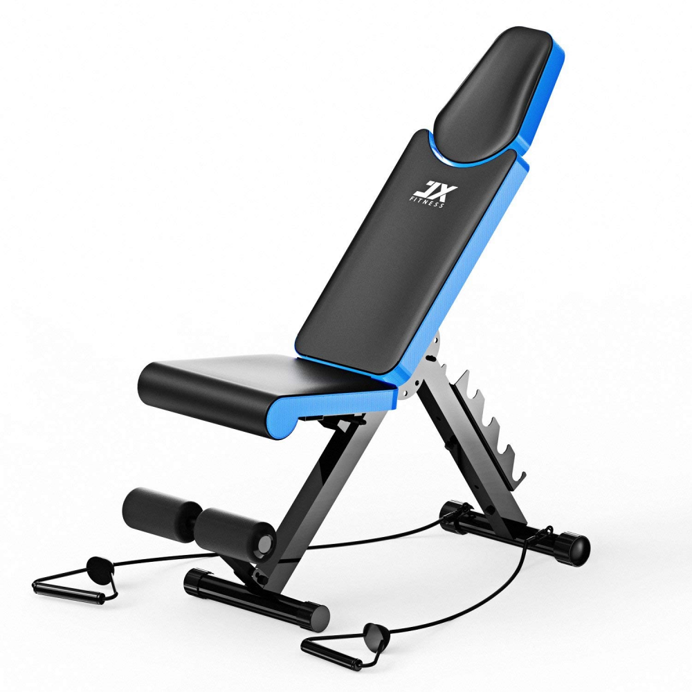 JX Fitness Panca Regolabile Home Training Palestra Sollevamento & & & SIT UP AB piatta in 9d6