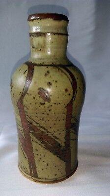 Ancien Vase En GrÈs À DÉcor Japonisant Signé Saint Maur