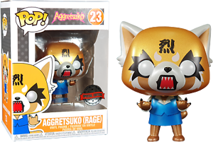 Aggretsuko-Rage-Metallic-Sanrio-Funko-Pop-Vinyl-New-in-Box