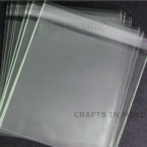 100 W L A5 Cello Bags Self Seal for Greeting Cards157mm x 210mm