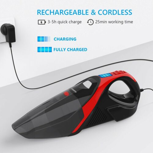 HOMPO Handheld Wireless Charging Dry and Wet Car Household Vacuum Cleaner