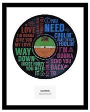 LED ZEPPELIN - MEMORABILIA - VINYL RECORD ART - Whole Lotta Love - Ideal Gift
