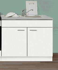 sp lenunterschrank favorit 5 wei mit auflagesp le 100 60 cm k che mehrzweck ebay. Black Bedroom Furniture Sets. Home Design Ideas