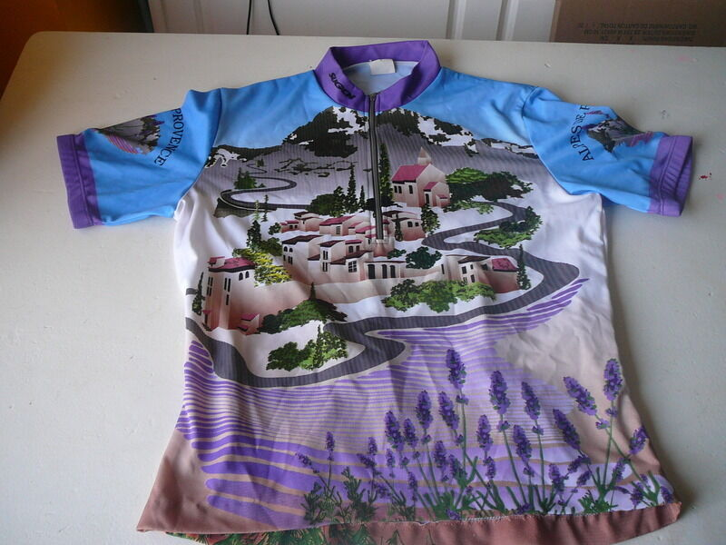 Bicycle jersey sugoi Alpes de provence pattern 62cm on 50cm