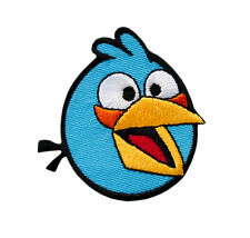 Angry BIRDS-BLUE-ricamate aufbügler PATCH BADGE-NUOVO #9047