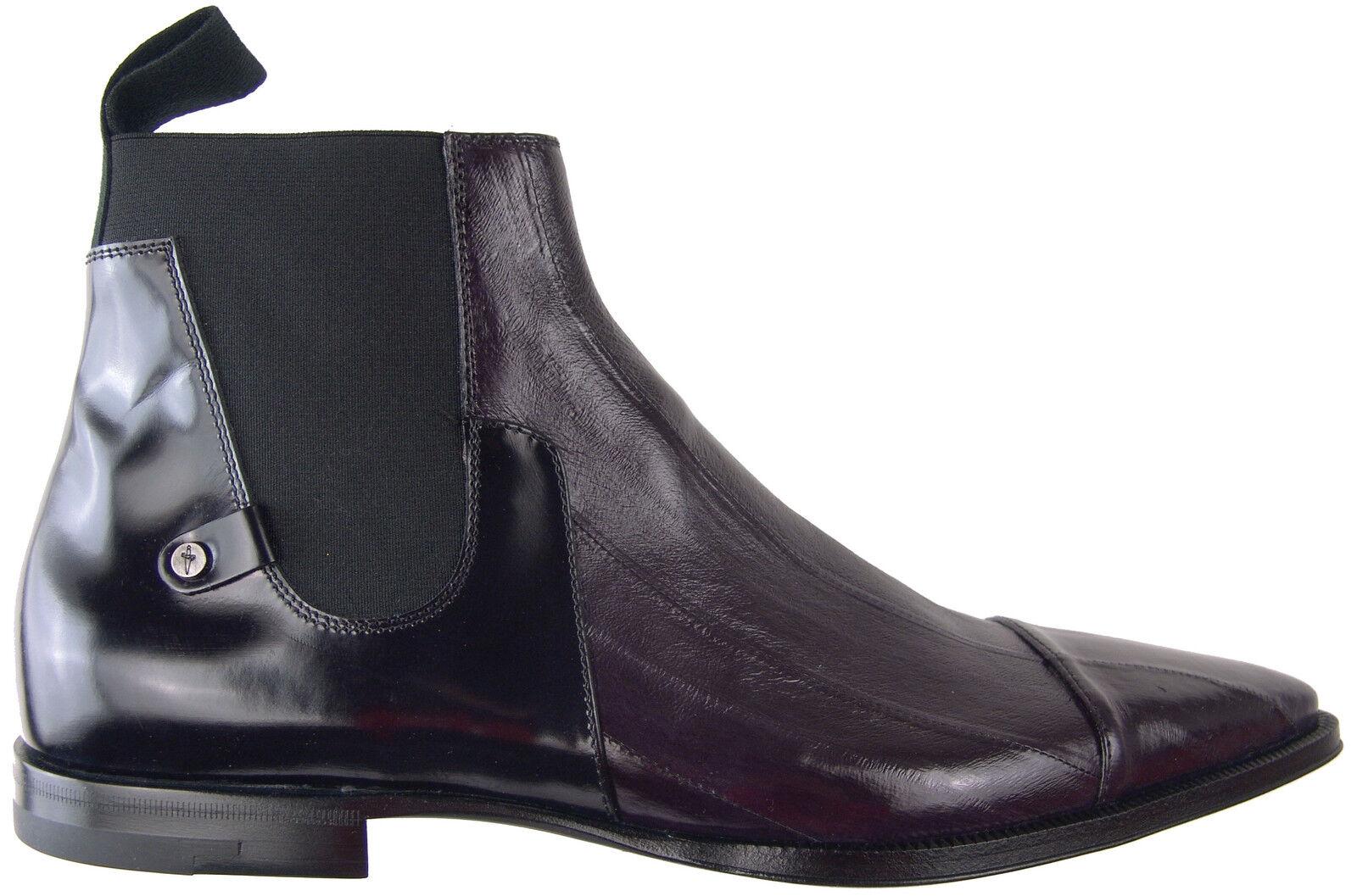Cesare Paciotti Anguila botas al Tobillo Zapatos US 6.5 Diseñador Italiano