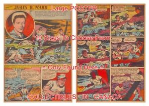 SEAMAN-JAMES-R-WARD-1945-Pearl-Harbor-WWII-Navy-POSTER-10-Sizes-18-034-4-1-2-FT