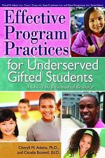 Effective Program Practices for Underserved Gifted Students : A CEC-TAG...