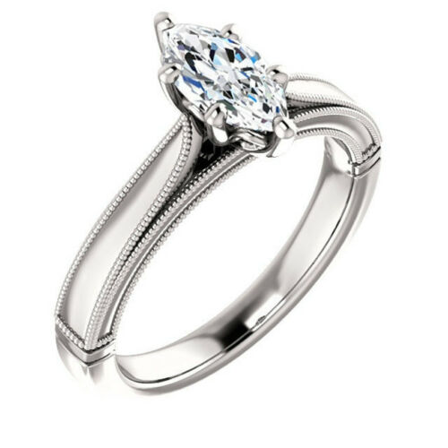 1.8CT White Topaz 925 Silver Ring Women Jewelry Wedding Engagement Size 6-10
