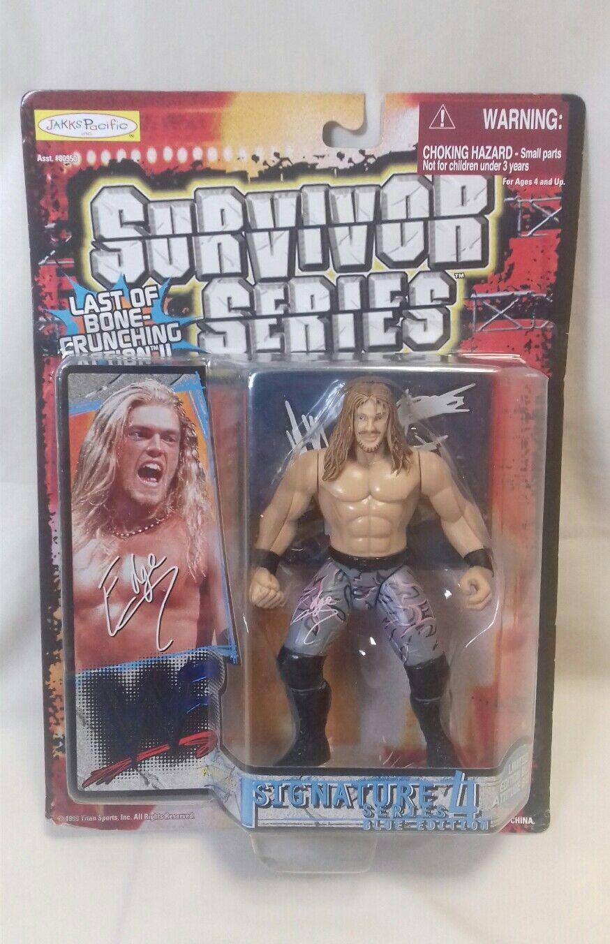 WWE-Luchador WWE-Luchador WWE-Luchador borde sobreviviente Serie Signature Series 4 Figura Jakks 1999 LT Azul 885331