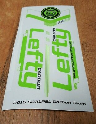 Sticker Decal Set for 2012 Cannondale SCALPEL 29er ULTIMATE Lefty XLR 100 Fork