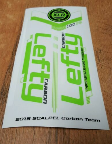 Sticker Decal Set for Cannondale 2015 SCALPEL 29 Team Lefty XLR 100 Carbon Fork