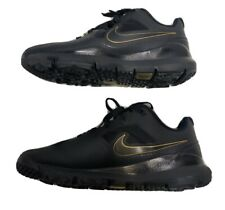 tiger woods golf shoes black and gold