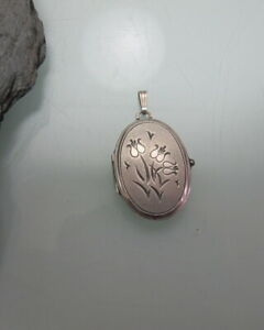 Medaillon-835-Silber-Blumen-signiert-K-amp-L-Kordes-amp-Lichtenfels-714