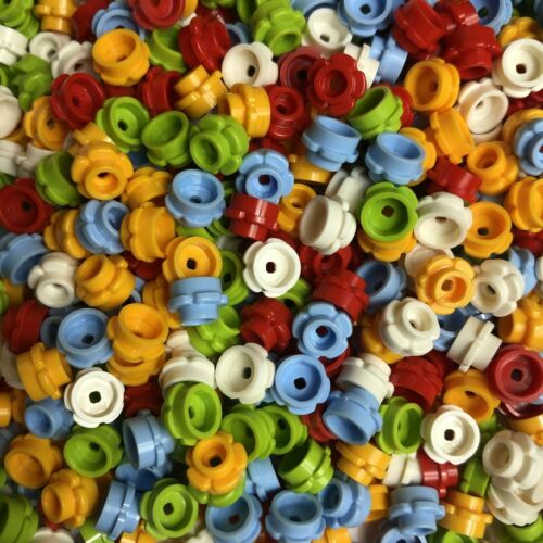 LEGO 100 or 200 x Mixed Flowers 1x1 Red Yellow White Blue Green Floral 24866 NEW