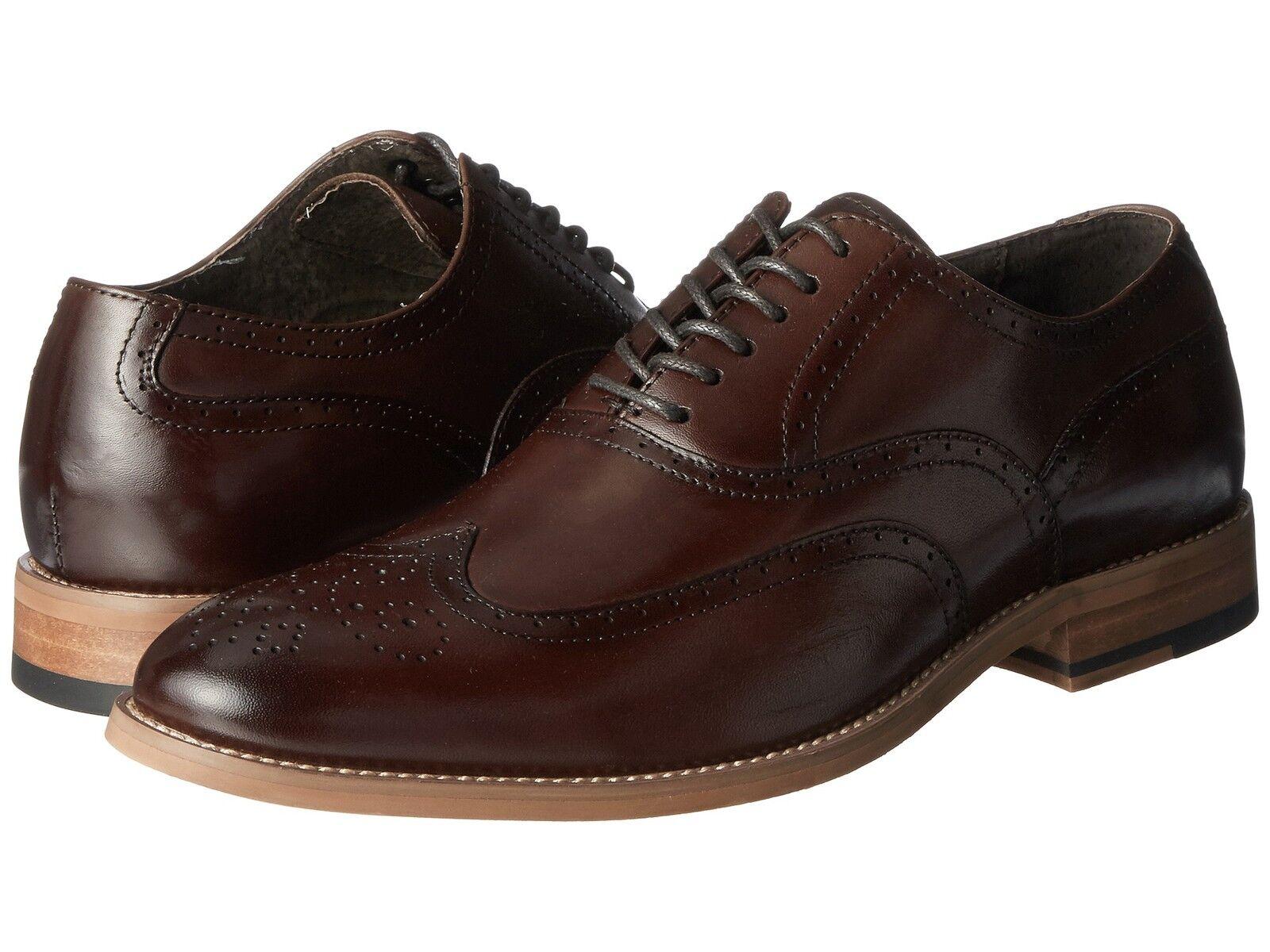 negozio online outlet Stacy Adams Uomo DUNBAR DUNBAR DUNBAR Wingtip oxford Leather Cognac scarpe 25064-221  prezzo all'ingrosso e qualità affidabile