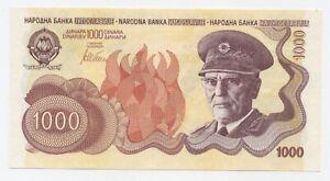 Yugoslavia 1000 Dinara ND (1990) Pick 101B? UNC Uncirculated Banknote RARE