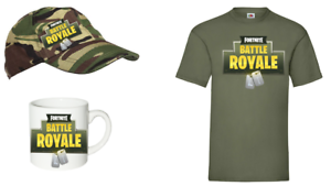 GAMING-BATTLE-ROYALE-FORTNITE-T-shirt-CAP-MUG-AGE-5-14-BOYS-AND-GIRLS