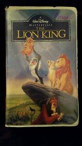 WALT-DISNEY-The-Lion-King-VHS-1995-Masterpiece-Collection-2977
