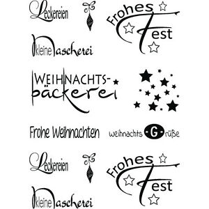 rayher clear stamps spr che schriftz ge weihnachtsb ckerei. Black Bedroom Furniture Sets. Home Design Ideas