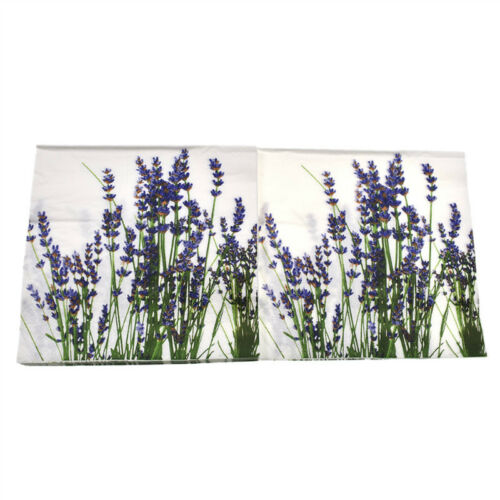 Pack of 20 Flower Printed Napkins Paper Double-layers Tableware Wedding Supplies