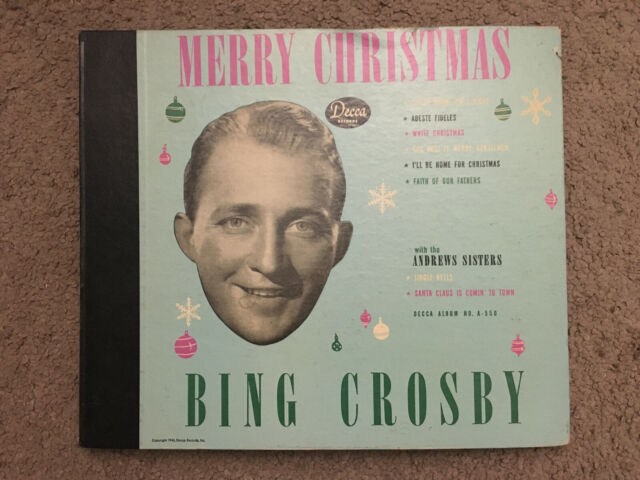 "BING CROSBY ""Merry Christmas"" Four Disc 78 RPM Album Decca A550   eBay"