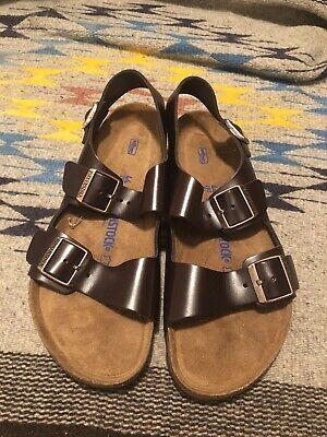 New Birkenstock Milano Sandals Ankle Strap Brown Soft Footbed Men 11 EU 44   eBay