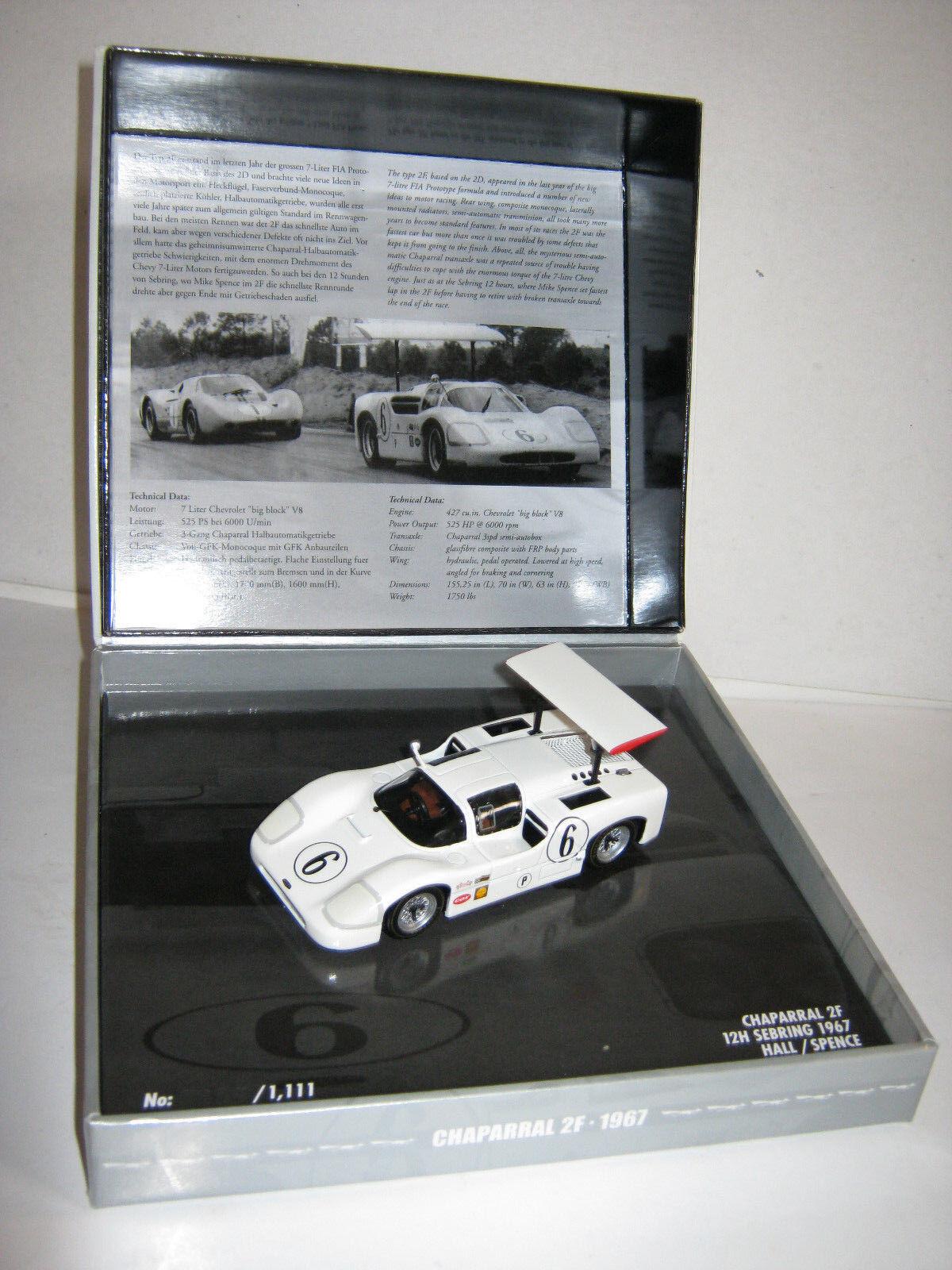 1 43 Chaparral 2 F 1967 12 Hrs. Sebring 1967 HILL SPENCE L.E 436671406 neuf dans sa boîte NEUF