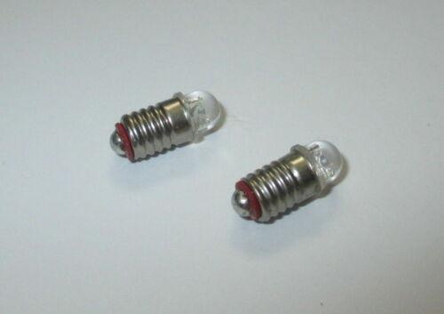 nuevo * LED e5.5 3,5-4,5 voltios para guarderías- casa de muñecas lámparas 2 unidades
