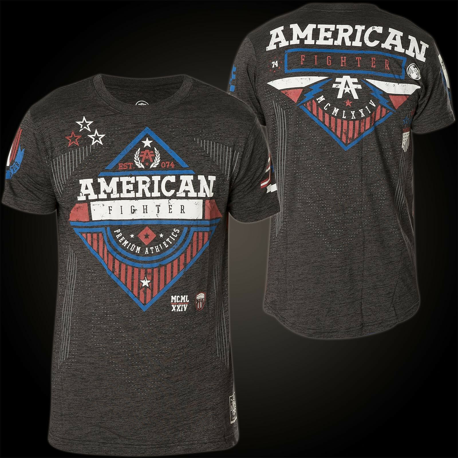 AMERICAN FIGHTER Affliction T-Shirt Clarkson Dunkelgrey T-Shirts