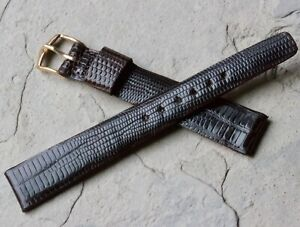 Old-type-1950s-Genuine-Teju-Lizard-16mm-vintage-watch-strap-with-a-tapered-shape