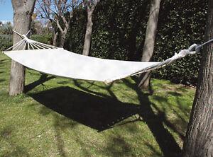 Amaca da giardino in cotone con traversa di sostegno cm 200x100