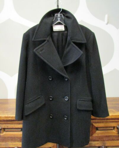 MACKINTOSH New England Made IN USA BLACK WOOL PEAC