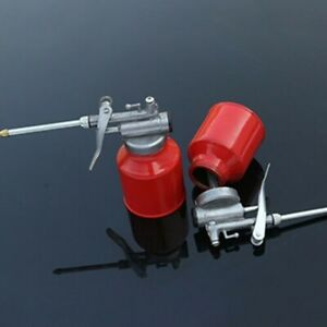 250ml-Oil-Can-Die-Cast-Body-Head-With-Rigid-Spout-Thumb-Pump-Workshop-Oiler-Good