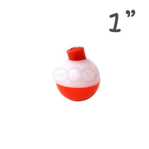 """500pcs 1/"""" Pêche Flotteur Snap-on Ronde Flotteurs Les Flotteurs bouton poussoir rouge blanc nouveau"""