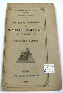 Règlement provisoire de Manœuvre d'Infanterie du 1er février 1920 1ere partie