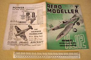 1940 Vintage Aero Modeller Mag V5 #54. Heinkel He112 Fighter Cover Art