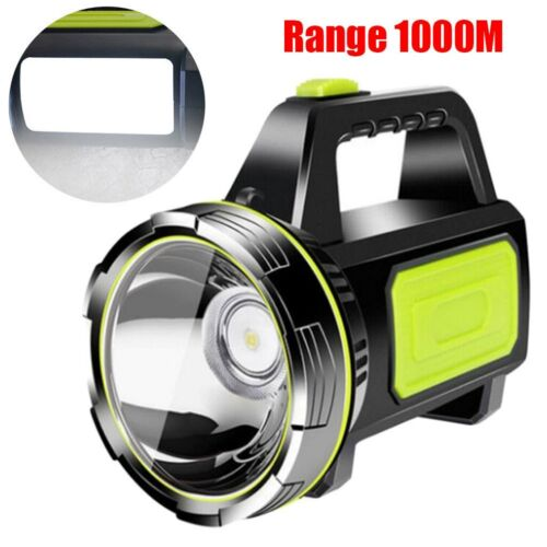 Rechargeable USB LED Torch Ultra Bright w// Beam Focusing Flashlight Powerful UK