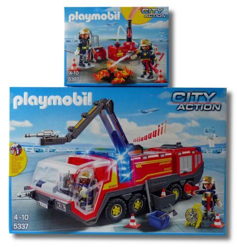Citylife Playmobil PLAYMOBIL® City Action 5337+5397 Flughafenlöschfahrzeug+Löschpumpe NEU/OVP!