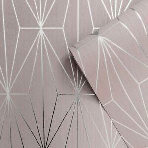 Kayla-Texture-Metallique-Papier-Peint-Geometrique-Fard-Argent-Muriva-703012