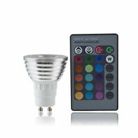 GU10 4W RGB LED Light Bulb Color Change Lamp with Remote Control 100-240V SY