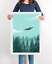The X Files UFO Print I want to believe Poster