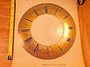 """NOS 8"""" Brass Clock Chapter Ring (Lot KA646)"""