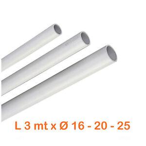 Tubo-rigido-impianti-elettrici-plastica-pvc-16-20-25-x-3-ml-tubi-infilaggio