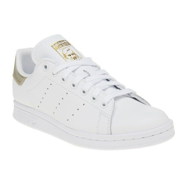 New damen adidas Weiß Stan Smith Leather Trainers Court Lace Up