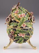 Faberge Music Egg with Turtle  by Keren Kopal trinket box Austrian crystals