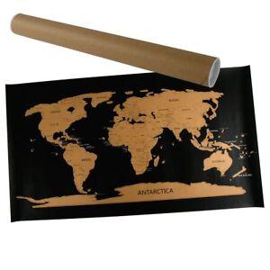 Wanddeko Rubbel Weltkarte 80x45cm Weltkarte Zum Rubbeln Landkarte