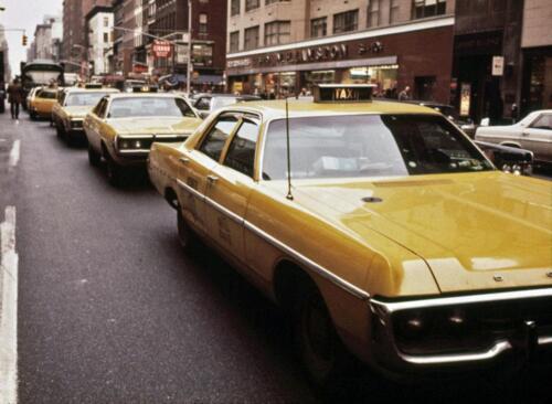 taxis 1972-3 Lexingon /& 61st Photo New York City