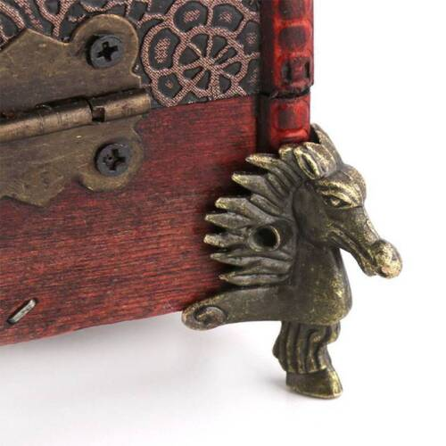 4Pcs Antique Brass Box Legs Feet Corner Protector Zinc Alloy Horse Head Shape