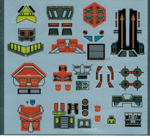 TRANSFORMERS GENERATION 1 G1 AUTOBOT TECHNOBOTS REPRO LABELS// STICKERS